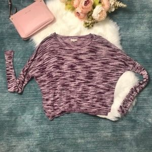 Urban Outfitters Purple & White Knit Sweater